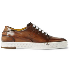 Berluti Polished-Leather Sneakers