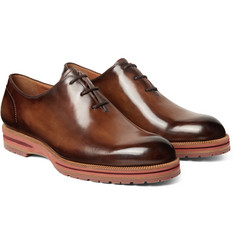 Berluti - Alessio Polished-Leather Oxford Shoes