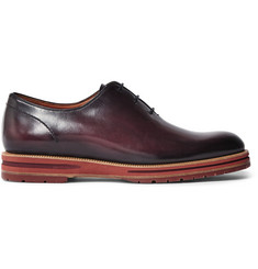 Berluti Saint Emilion Burnished-Leather Oxford Shoes