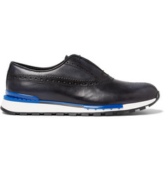 Berluti Fast Track Polished-Leather Brogue Sneakers