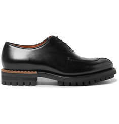 Berluti Glazed Leather Oxford Shoes
