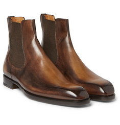 Berluti - Burnished-Leather Chelsea Boots