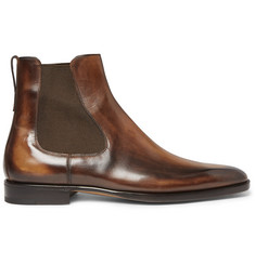 Berluti Polished-Leather Chelsea Boots