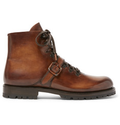 Berluti Brunico Polished-Leather Boots