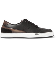 Berluti Vitello Suede-Trimmed Leather Sneakers
