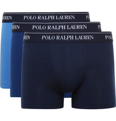 Polo Ralph Lauren - Three-Pack Stretch-Cotton Jersey Boxer Briefs