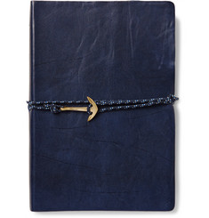 Miansai Cord and Anchor-Embellished Leather Notebook