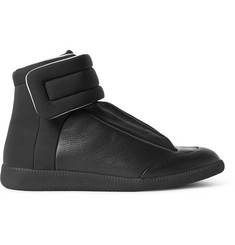 Maison Margiela Future Full-Grain Leather and Neoprene High-Top Sneakers