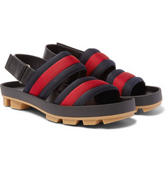 Gucci Webbing and Leather Sandals
