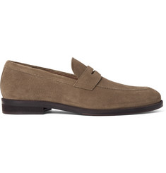 Loro Piana Citey Walk Suede Penny Loafers