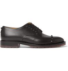 Valentino Studded Leather Derby Shoes