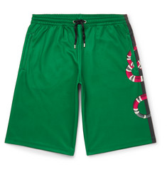 Gucci Printed Cotton-Blend Tech-Jersey Shorts