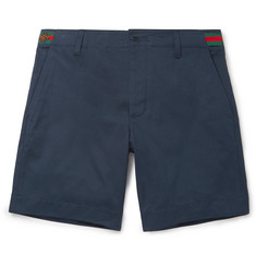 Gucci Embroidered Cotton-Twill Shorts