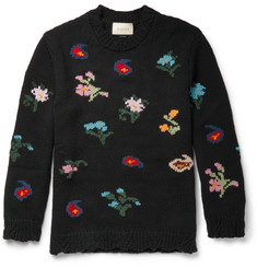 Gucci Intarsia Wool-Blend Sweater