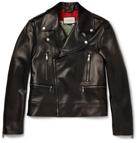 Leather Biker Jacket - Black