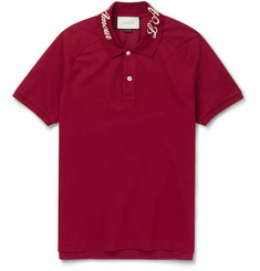 Gucci - Slim-Fit Stretch-Cotton Piqué Polo Shirt