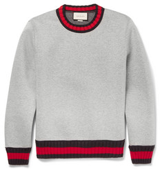 Gucci Stripe-Trimmed Cotton Sweatshirt