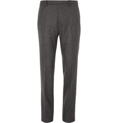 Gucci Slim-Fit Wool-Blend Flannel Trousers
