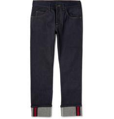 Gucci Cropped Stretch-Denim Jeans