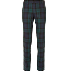 Gucci - Slim-Fit Checked Wool Trousers