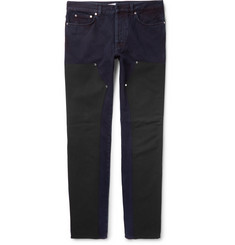 Givenchy Slim-Fit Contrast-Panelled Denim Jeans