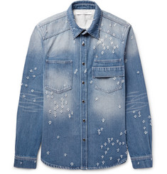 Givenchy Slim-Fit Distressed Denim Shirt