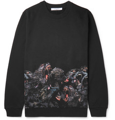 Givenchy Monkey Brothers Printed Fleece-Back Cotton-Jersey Sweatshirt