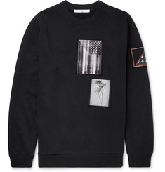 Givenchy Cuban-Fit Appliquéd Cotton-Jersey Sweatshirt