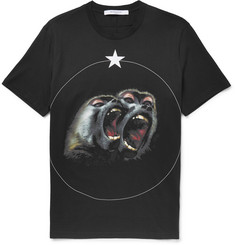 Givenchy Monkey Brothers Cuban-Fit Printed Cotton-Jersey T-Shirt