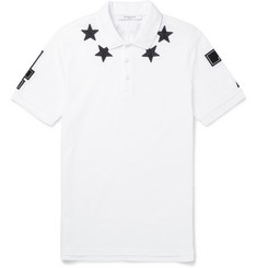 Givenchy Appliquéd Cotton-Piqué Polo Shirt