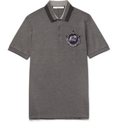 Givenchy - Slim-Fit Embroidered Cotton-Piqué Polo Shirt