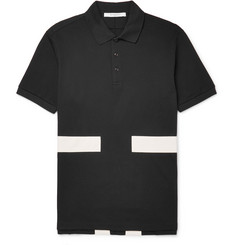 Givenchy Cuban-Fit Appliquéd Cotton-Piqué Polo Shirt