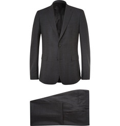 Givenchy Charcoal Slim-Fit Checked Stretch-Wool Suit