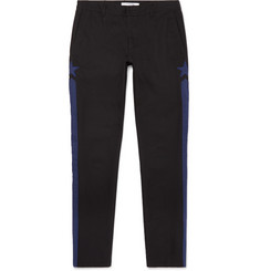 Givenchy Slim-Fit Appliquéd Cotton-Canvas Trousers