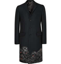 Givenchy Monkey Brothers Slim-Fit Embroidered Woven Coat
