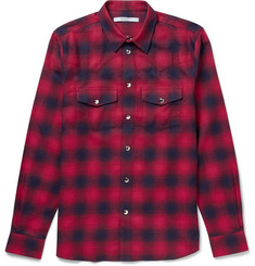 Givenchy Slim-Fit Checked Cotton-Flannel Western Shirt