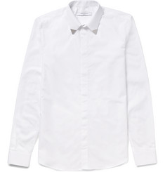Givenchy - Sim-Fit Metal-Trimmed Cotton-Poplin Shirt