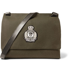 Alexander McQueen Patch-Embellished Canvas Messenger Bag