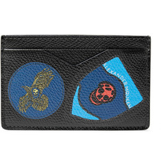 Alexander McQueen Printed Textured-Leather Cardholder