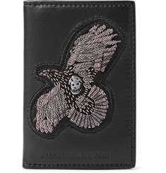 Alexander McQueen Embroidered Leather Bifold Cardholder