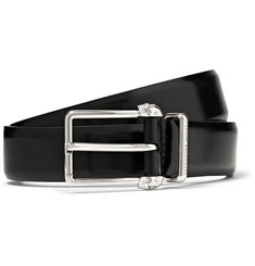 Alexander McQueen - 3cm Black Skull-Detailed Leather Belt