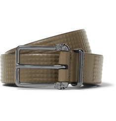 Alexander McQueen - 3cm Green Studded Leather Belt