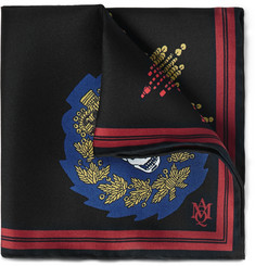 Alexander McQueen Printed Silk-Twill Pocket Square