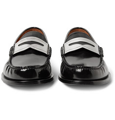Givenchy - Polished-Leather Penny Loafers
