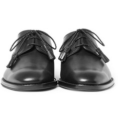 Givenchy - Plaited Tassel Leather Derby Shoes