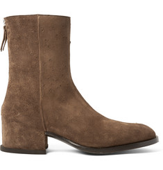 Givenchy Distressed Suede Boots