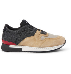 Givenchy Panelled Suede, Felt and Mesh Sneakers