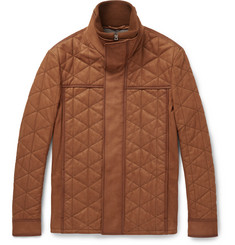 Berluti Quilted Washed-Nubuck Jacket