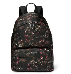 Givenchy Monkey Brothers Leather-Trimmed Printed Shell Backpack