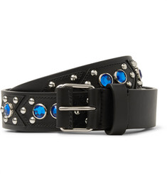 Givenchy 3cm Black Embellished Leather Belt